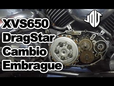 Sustitución embrague Yamaha DragStar XVS650
