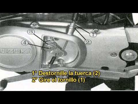 Como regular el embrague de motos Suzuki Ax100 [HD]