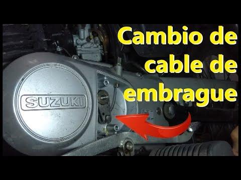 Cambio de cable de embrague motocicleta Suzuki AX100