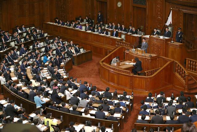 일본 국회 모습. 도쿄/AP 연합뉴스
