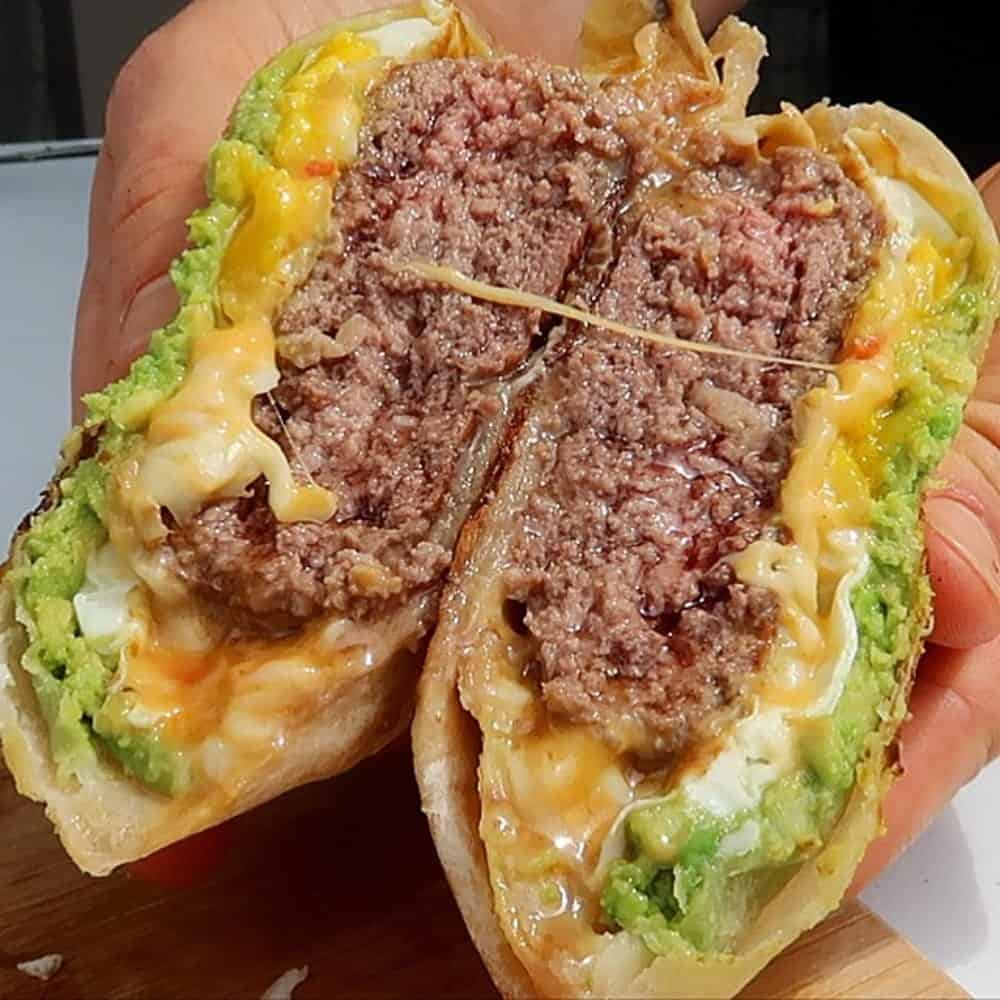 Bacon, Egg, Cheddar XL Crunchwrap Burger