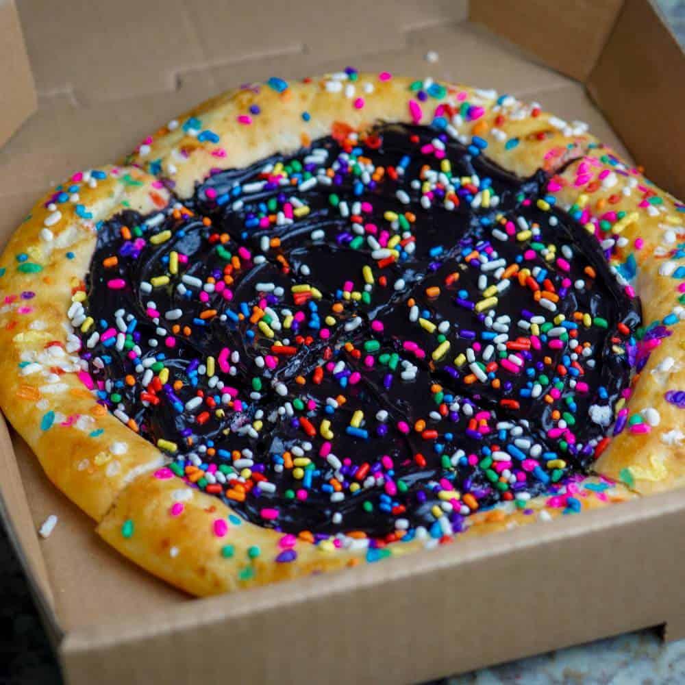 Funfetti Oreo Protein Dessert Pizza