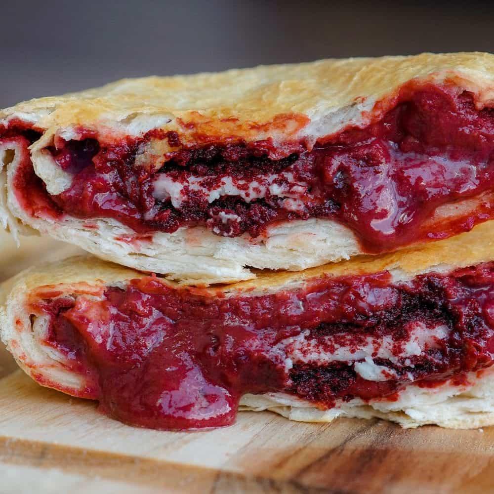 Red Velvet Oreo Protein Dessert Crunch Wrap