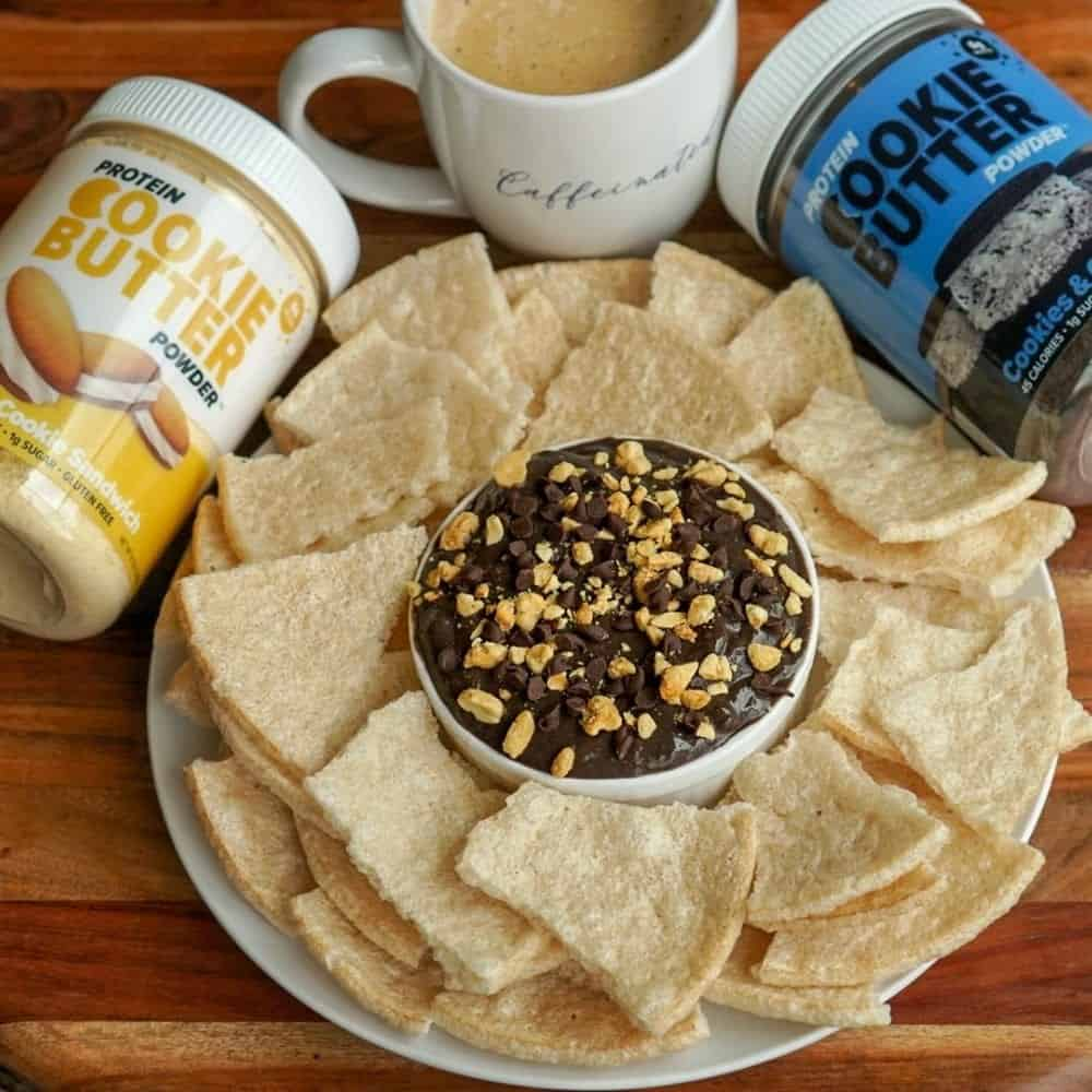 Chocolate Peanut Butter Protein Cookie Butter Dip