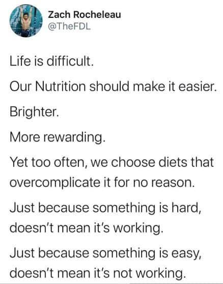 Nutrition Should be Easy