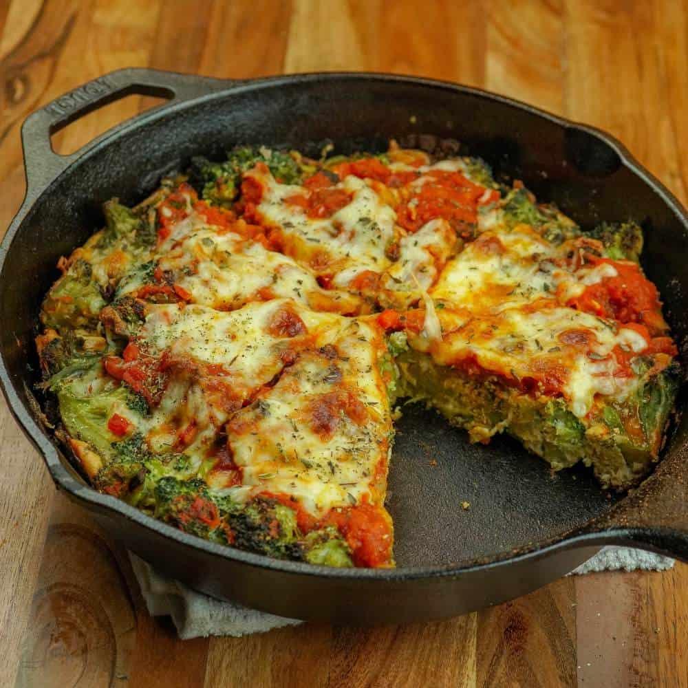 Deep Dish Broccoli Pizza Frittata