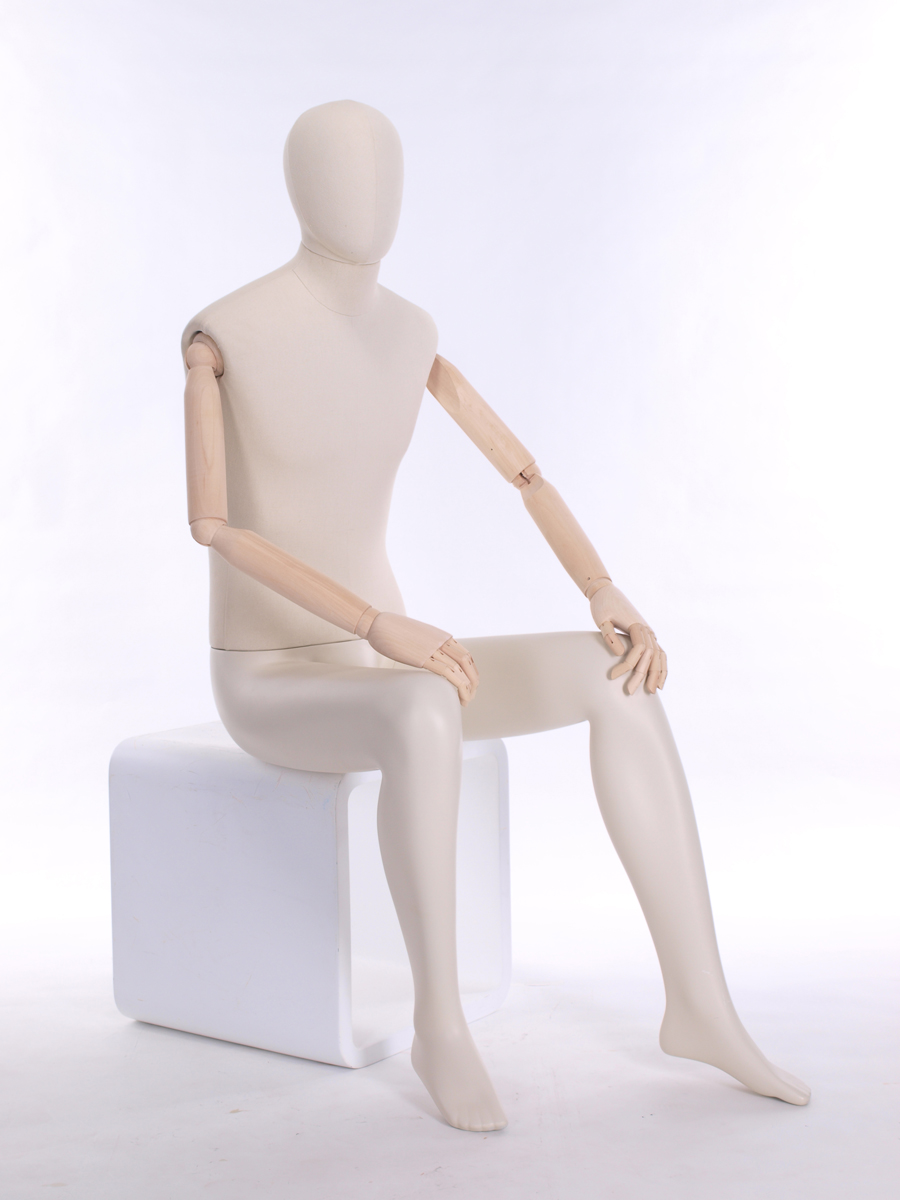 Meta Abstract Male Mannequin with wooden articulating arms