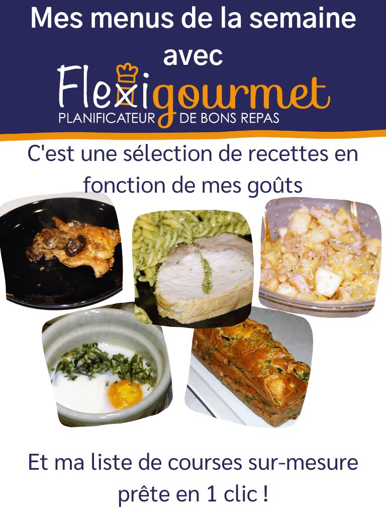 Compose ton menu de la semaine avec le planificateur de repas Flexigourmet