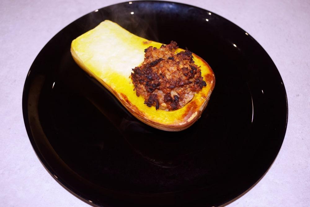 Recette de butternut farcie au panais