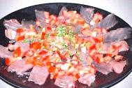 Recette de carpaccio de thon à la tomate
