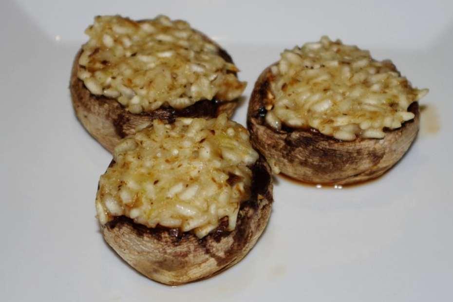 Recette végétarienne : champignons au risotto