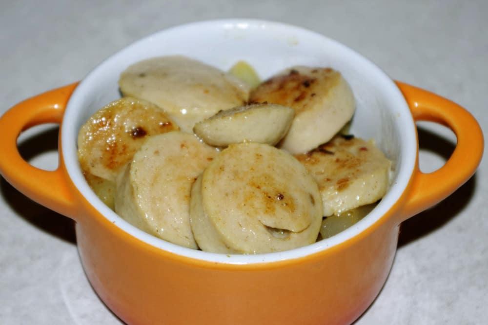 Recette facile des cocottes de boudin blanc au quinoa et aux poires