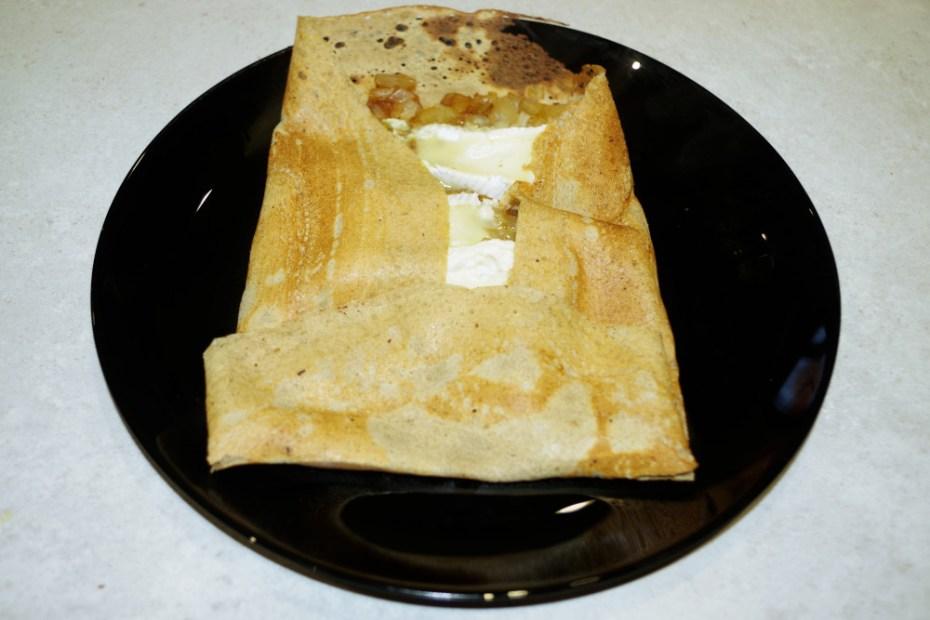 Recette de galette compotée d'oignon et camembert