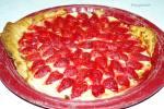 Recette de dessert sain : tarte aux fraises et à la rhubarbe