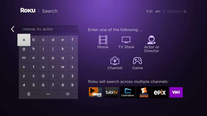 roku search page