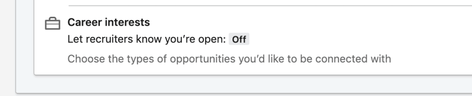how to let recruiters know you are open on LinkedIn