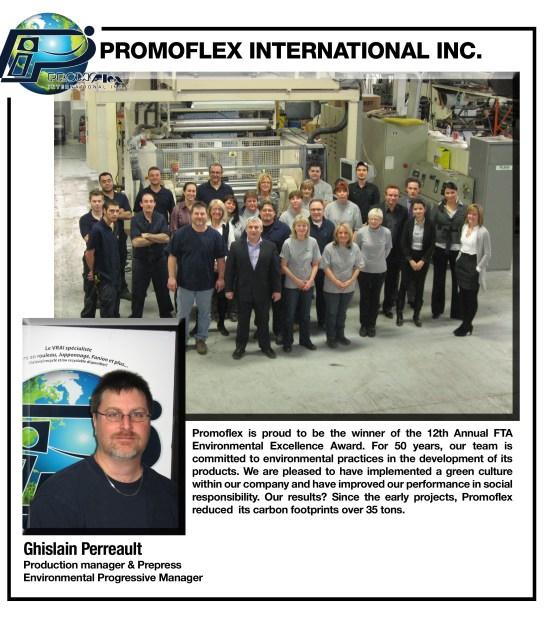 2012 Sustainability Excellence Award Promoflex International