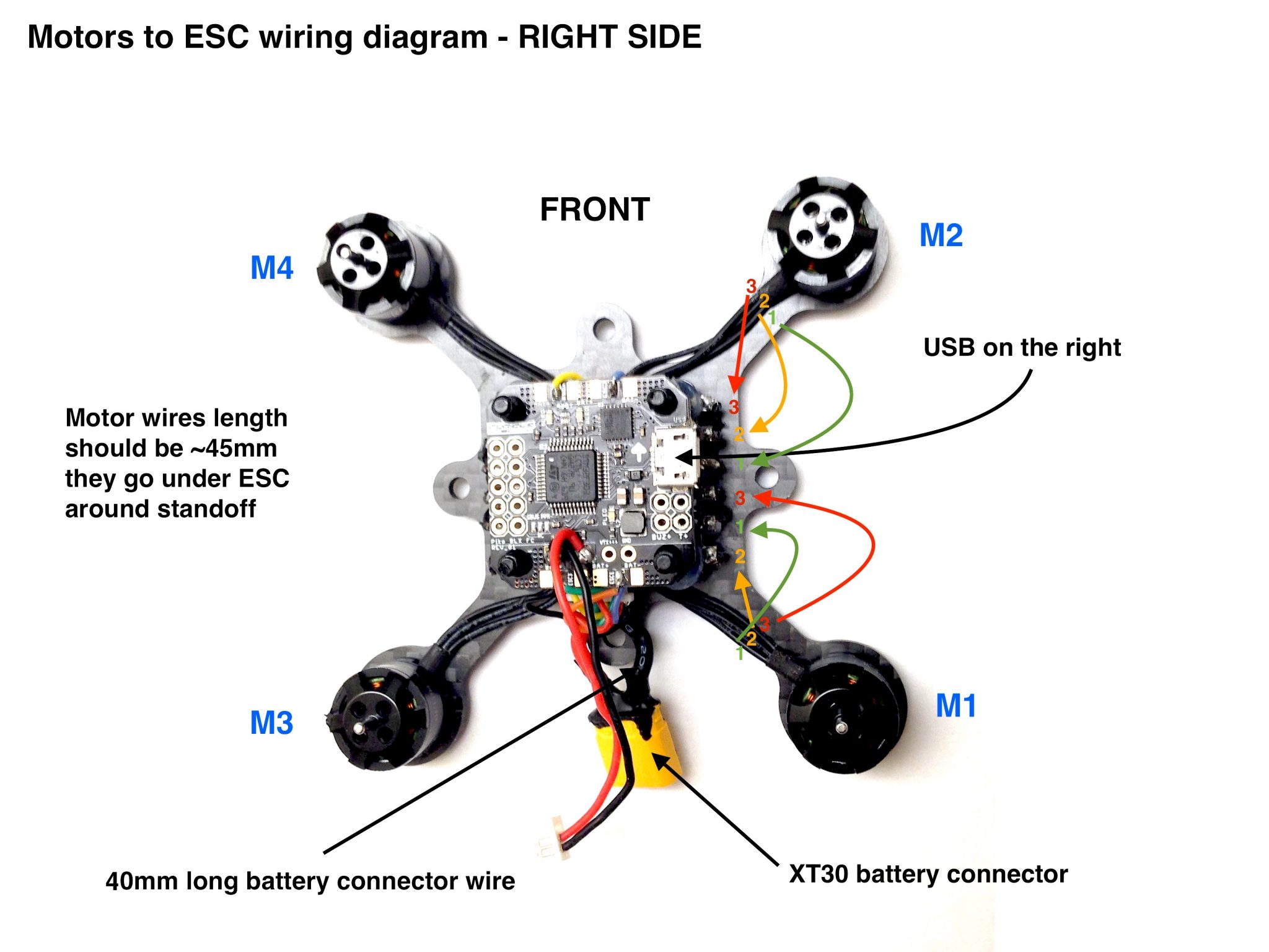 FlexRC Pico Core motors wiring diagram