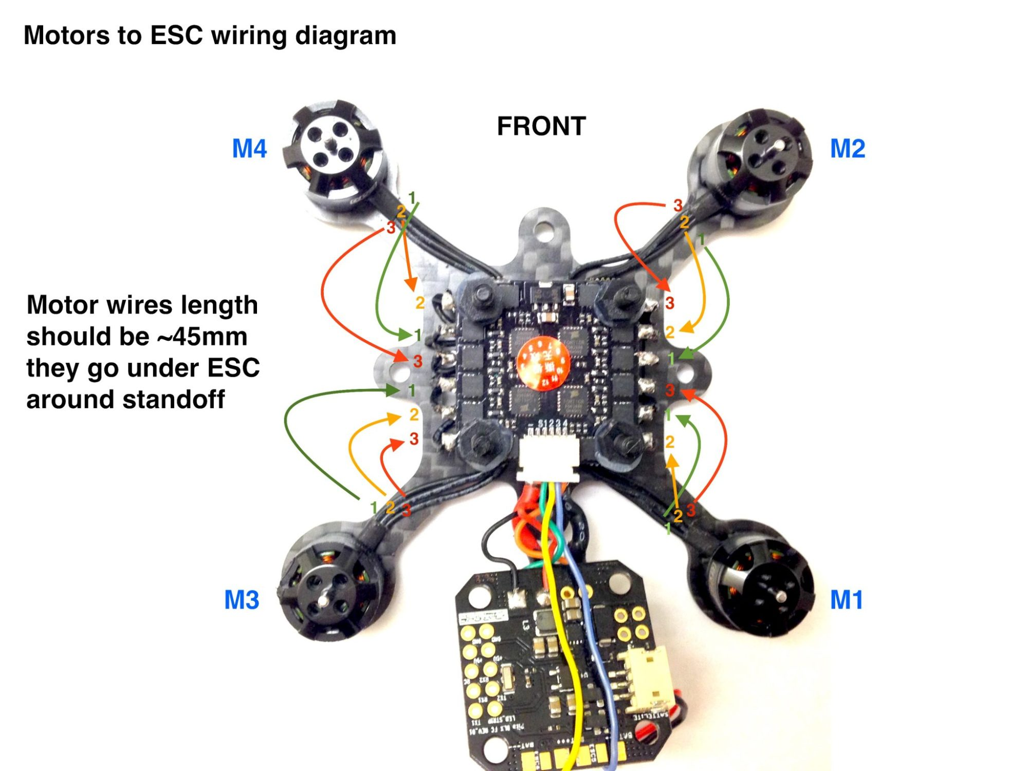 hight resolution of motors to esc connection diagram