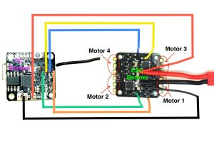TinyFish FC and TinyPepper 1s 4A ESC wiring diagram – Flex RC