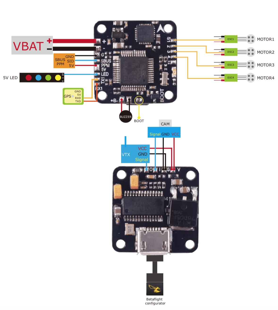 fpv racing drone wiring diagram baldor motor l1410t tiny f3 flight controller with osd – betaflight dshot (16x16mm mount) flex rc