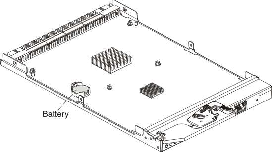 Flex SystemChassis Management Module: removing the battery