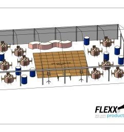 40x60 flexx productions clearspan tent layout [ 2200 x 1700 Pixel ]