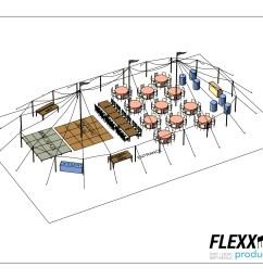 44x83 flexx productions tidewater tent layout [ 1650 x 1275 Pixel ]