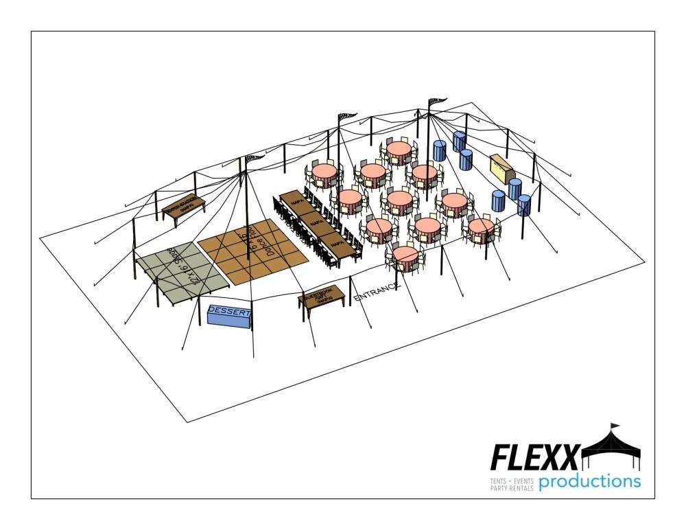 medium resolution of 44x83 flexx productions tidewater tent layout