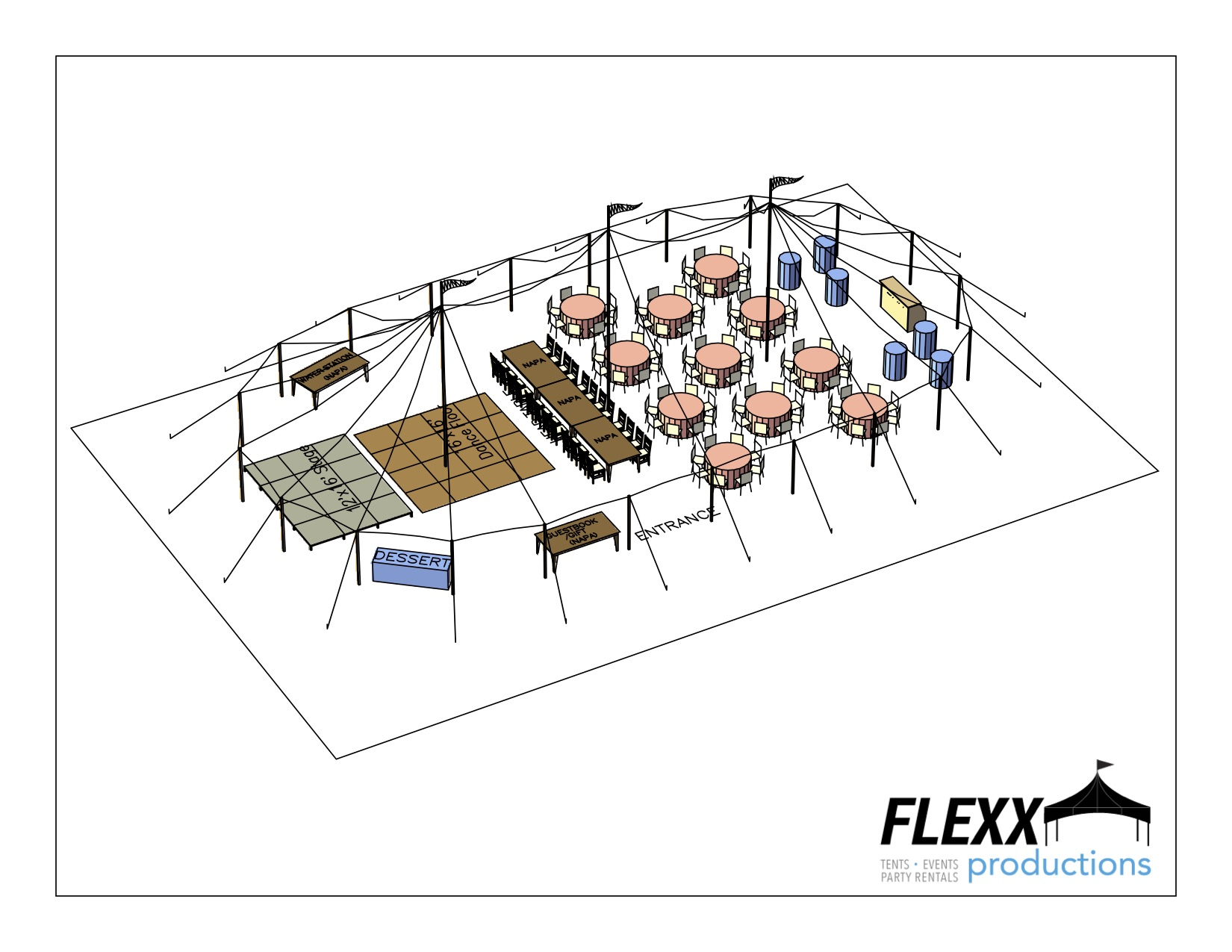 hight resolution of 44x83 flexx productions tidewater tent layout