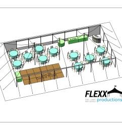 flexx productions pole tent layout [ 2200 x 1700 Pixel ]