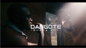 Burna boy dangote video