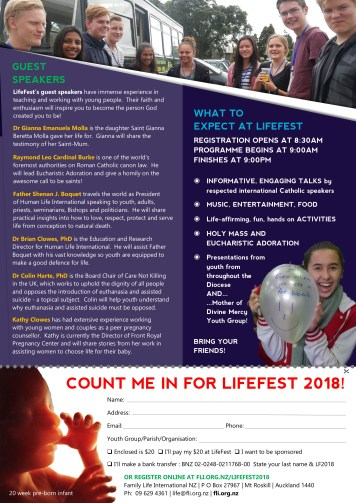 LifeFest poster back