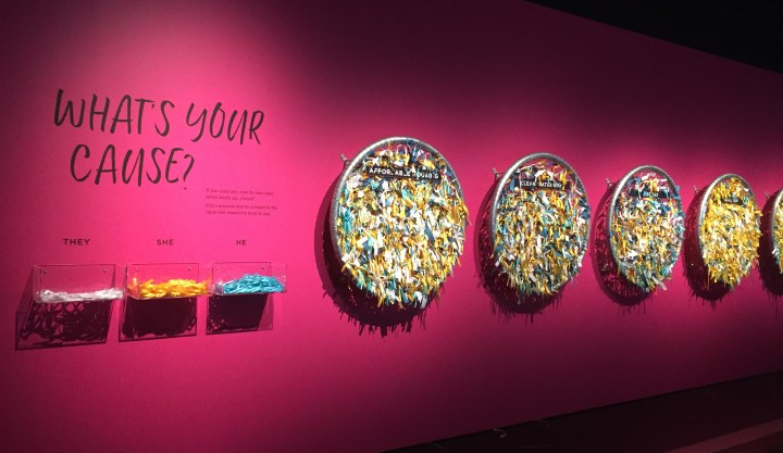 Pronouns for a cause at Auckland Museum's Women and Equality in Aotearoa exhibition