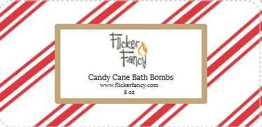 Candy Cane Bath Bombs