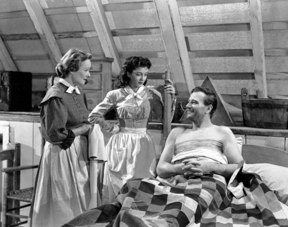 Irene_Rich,_Gail_Russell_&_John_Wayne_in_Angel_and_the_Badman_-_1947