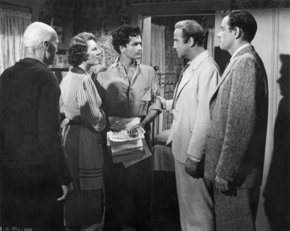 still-of-john-derek,-broderick-crawford,-john-ireland-and-anne-seymour-in-all-the-kings-men-(1949)-large-picture