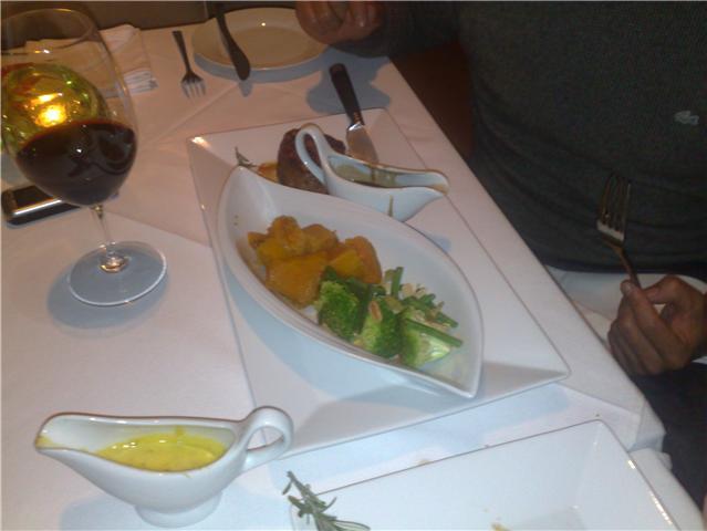 John's food, and my Bearnaise!