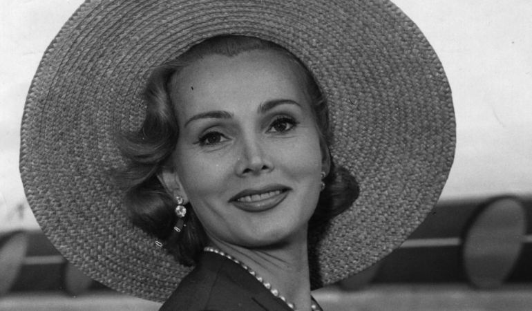 Hungarian actress Zsa Zsa Gabor.    (Photo by Keystone/Getty Images)