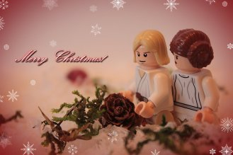 Christmas with Luke and Leia.