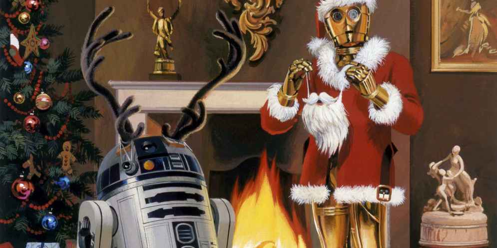 A Happy Christmas from R2-D2 and C-3PO.
