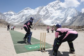 Cricket on top of the world - Everest Base Camp
