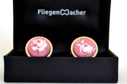 Manschettenknopf rosa blumen