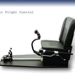 Flight Simulator Chair Motion Armless Slipcover Next Level Racing Complete Helicopter Control Unit