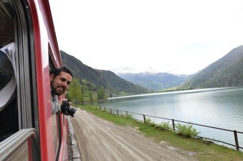 Bernina Express Train Scenery