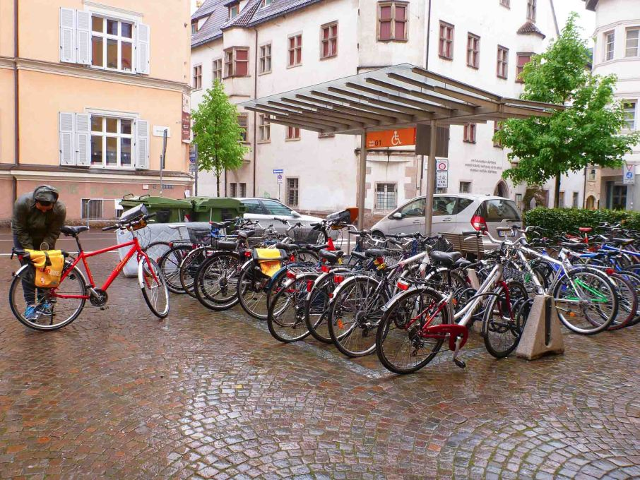 Piazza Walther, Bicycle parking, Bolzano Italy