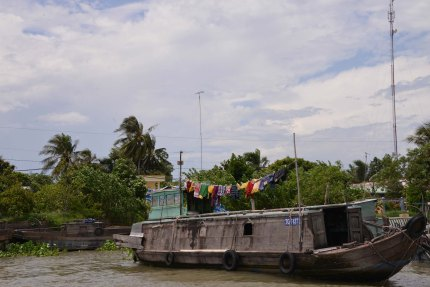 Hung out to dry on the Mekong