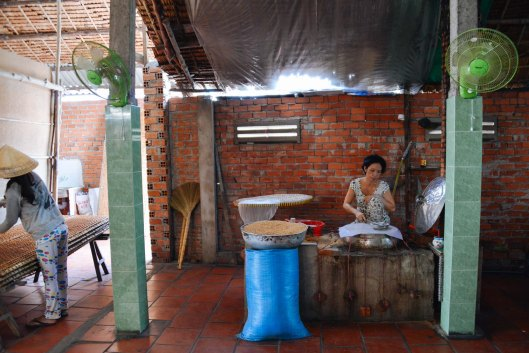 Making Rice paper on the Mekong