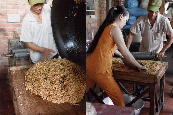 Making rice crispy