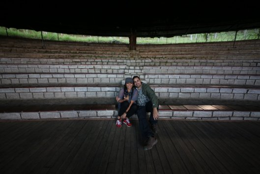 We found this cool amphitheater in between performances.